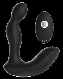 """מעסה פרוסטטה יוקרתי מסיליקון רפואי נטען עם שלט על חוטי בעל 3 מהירויות שונות ו7 מצבי רטט """"Koopa"""""""