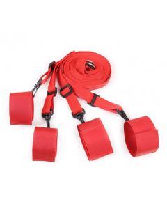 סט קשירות למיטה בצבע אדום במיוחד למתחילים  NOTUS