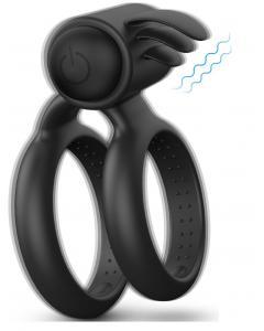 טבעת רטט  רב פעמית, מסיליקון רפואי עם טבעות הידוק לחיזוק הזקפה Bevan