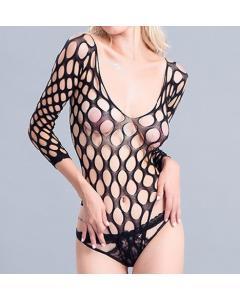 בגד גוף סקסי פתוח ונמתח