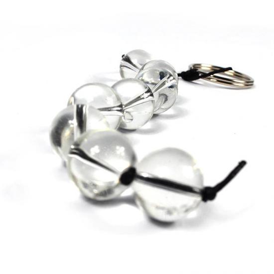 חרוזים אנאלים מיוחדים עשויי זכוכית מחוסמת בקוטר 2.5 אורך 14